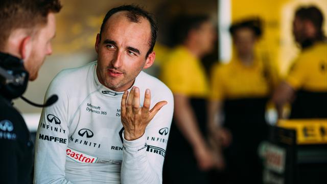 """Kubica : """"Je ne pilote pas à une main"""""""