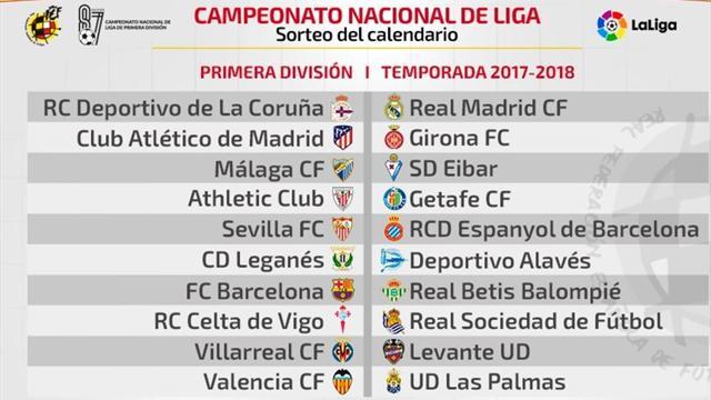 Dépor-Madrid, Barça-Betis y Girona-Atlético, en la primera jornada de Liga