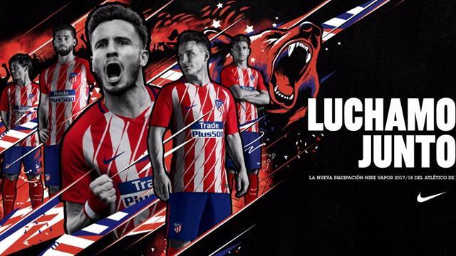 Atlético de Madrid presentó su nueva indumentaria para la temporada 2017-18