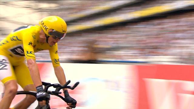 Tour de France: Romain Bardet ve Chris Froome'un finiş anı