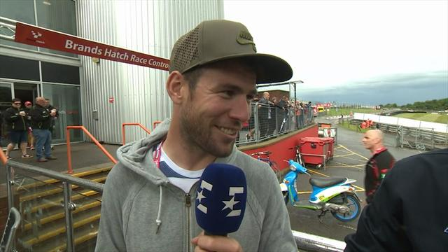 Mark Cavendish: Cal Crutchlow's teaching my son to ride!