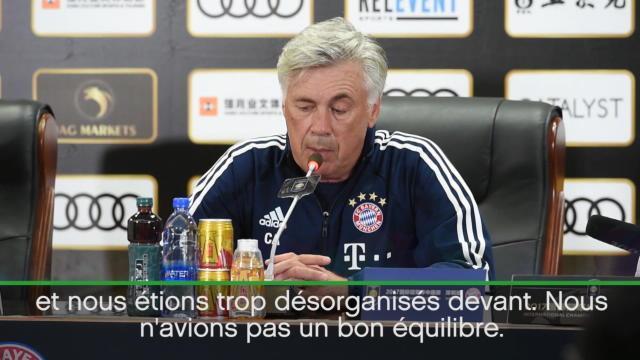 Ancelotti, mécontent : «Je ne vous dirai pas ce que j'ai dit aux joueurs…»