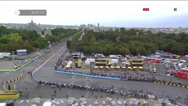 Последние метры «Тур де Франс», на которых Грайпелю чуть-чуть не хватило скорости, дистанции и удачи