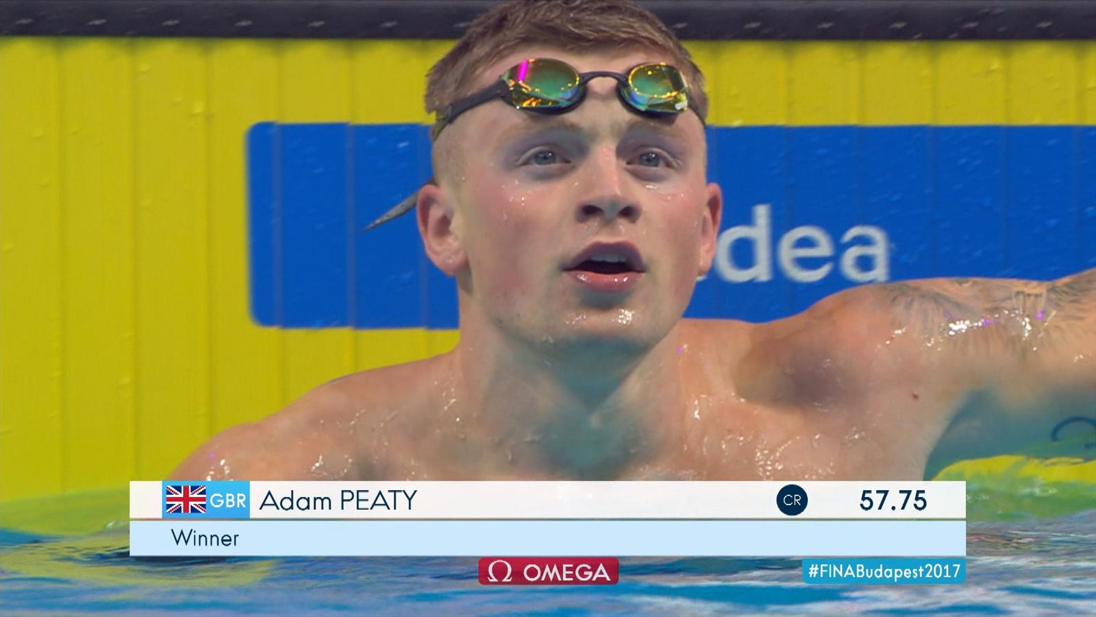 Video adam peaty sets world championship record in 100m - Butterfly tennis de table france ...