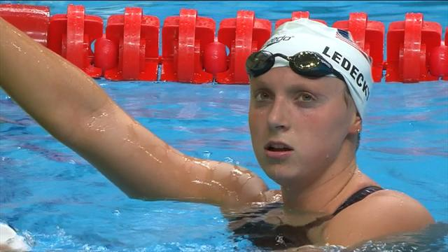 Ledecky eases into 1500m freestyle final