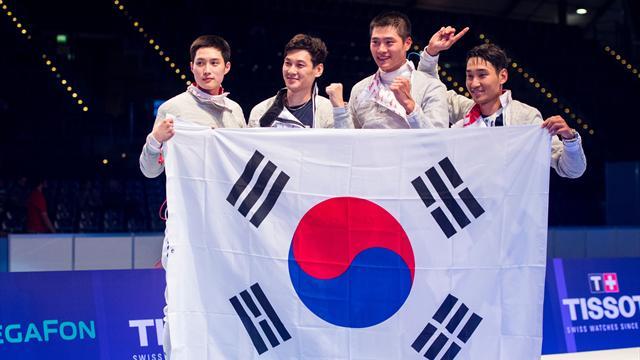 La Corée du Sud se pare d'or pour la première fois au sabre par équipes