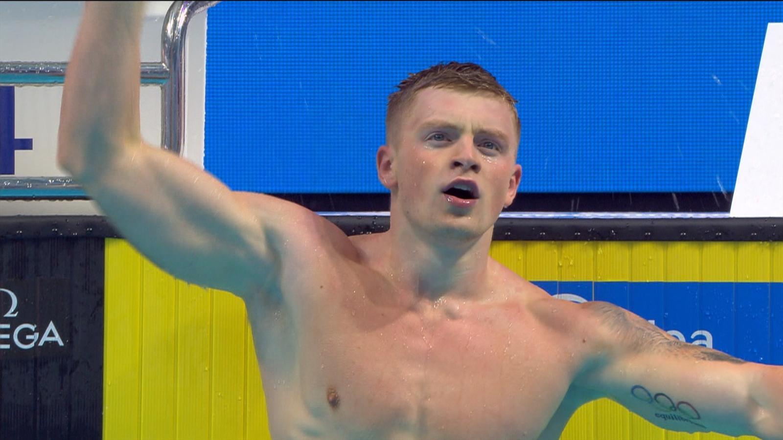 VIDEO - Adam Peaty wins 100m breaststroke, breaks championship record - World Championships ...