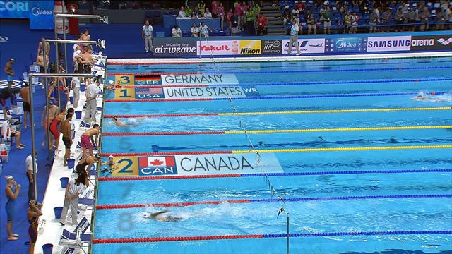 USA set new world record in 4x100m Mixed Medley
