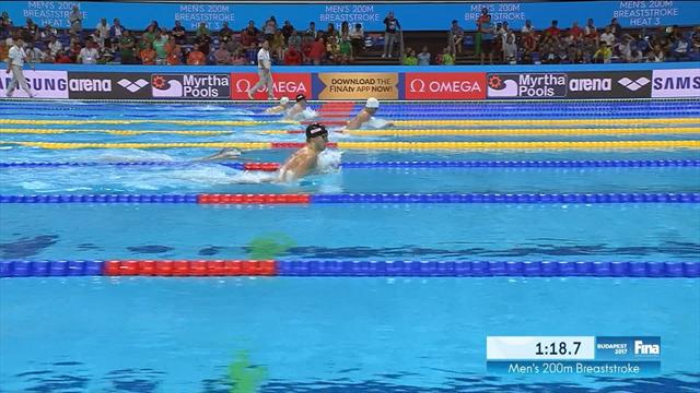 Murdoch produces solid swim to qualify for men's 200m breaststroke semis