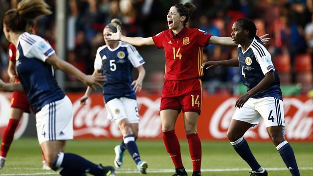 Eurocopa Femenina 2017, Escocia-España: Sin puntería pero con premio (1-0)