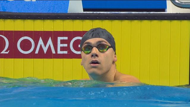 Guy breaks British record in 100m butterfly heat