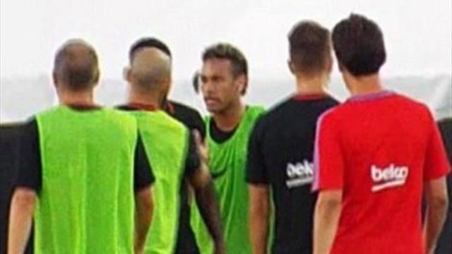 La pelea de Neymar con su compañero Semedo en pleno entrenamiento (+VÍDEO)