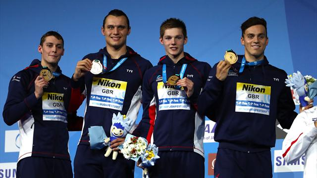 Great Britain defends 4x200m freestyle relay title at World Championships