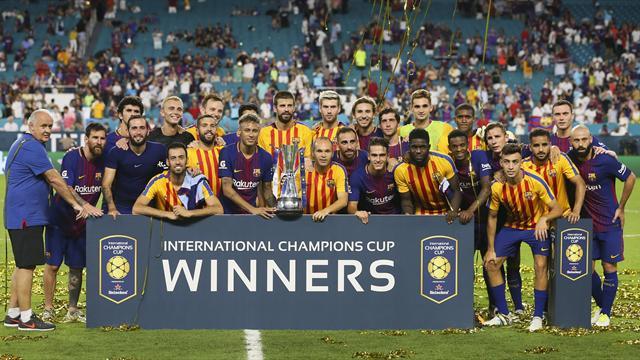 International Champions Cup: El Barça, campeón; y Piqué, MVP