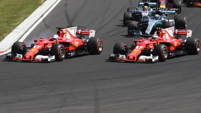 Vettel gewinnt trotz Problemen, Hamilton mit großer Geste