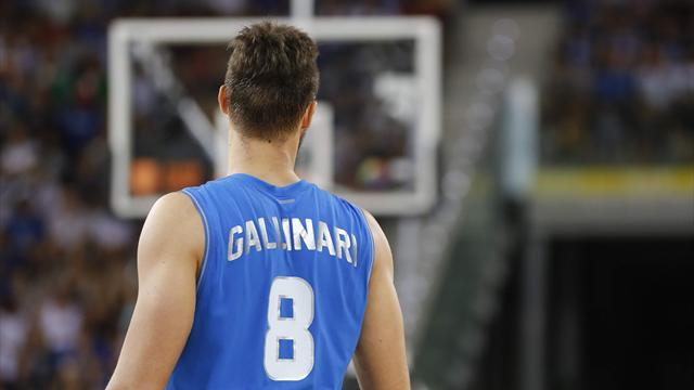 Recupero con i piedi di piombo per Danilo Gallinari: tornerà soltanto per l'esordio al Mondiale