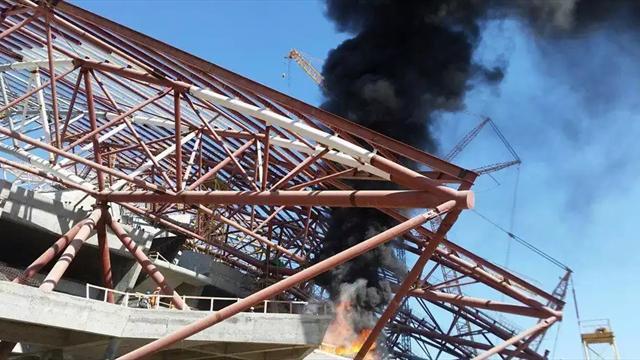 На строящейся «Самара Арене» произошел пожар
