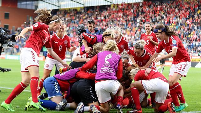 Une séance de tirs au but catastrophique de l'Autriche et le Danemark s'est envolé vers la finale