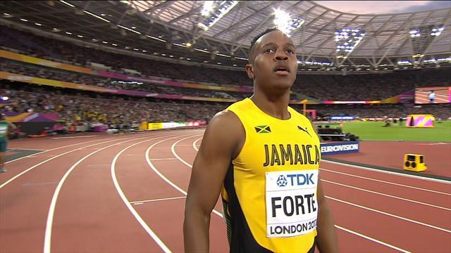 Seul homme en-dessous des 10 secondes, Forte a montré les muscles en séries