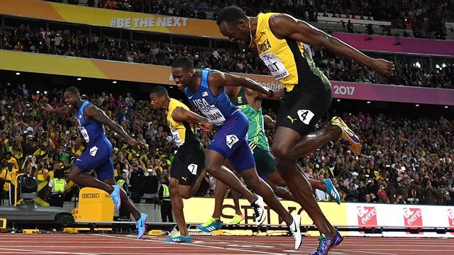 Usain Bolt beaten by Justin Gatlin in his last major 100m final