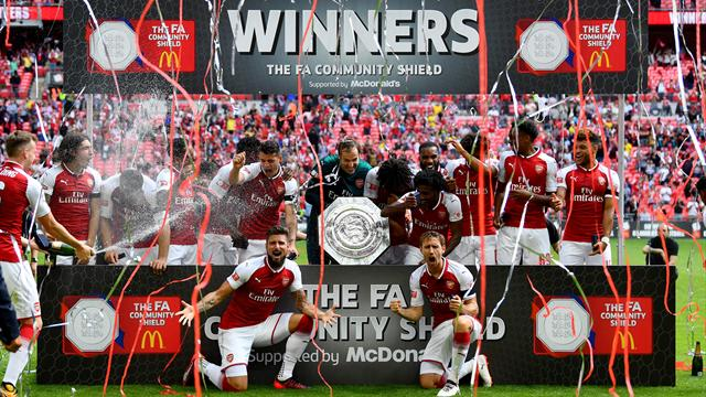 Arsenal win Community Shield on penalties as Courtois misses in shootout