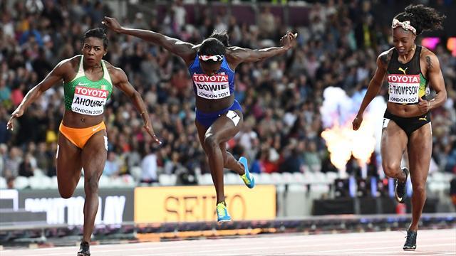 L'Ivoirienne Marie-Josée Ta Lou médaillée d'argent au 100 m — Athlétisme