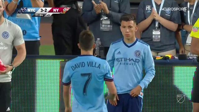 MLS: Ovación del Yankee Stadium a David Villa tras su hat-trick en el derbi de Nueva York
