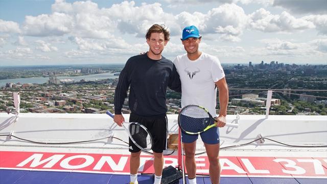 Надаль и Тим зарубились в теннис на вершине олимпийской башни высотой в 165 метров