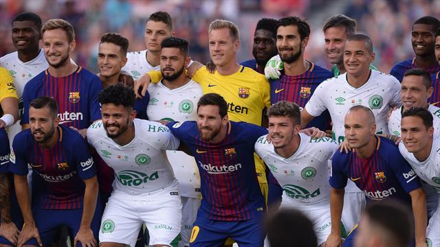 Pour son premier match post Neymar, le Barça a rendu hommage à Chapecoense