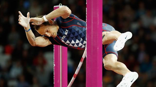 Le saut pour le bronze de Renaud Lavillenie à 5,89m