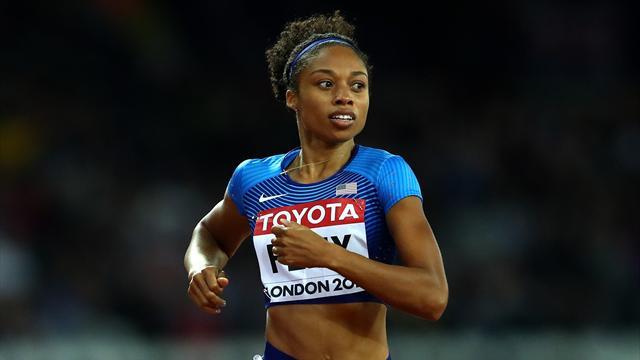 Kadınlar 4x100 metreye ABD damgası