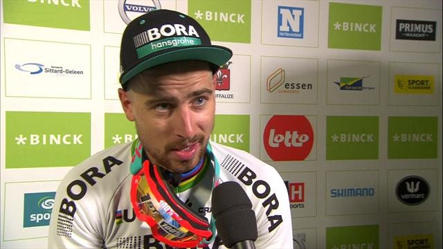 Sagan reveals why he is wearing ski goggles in the middle of summer