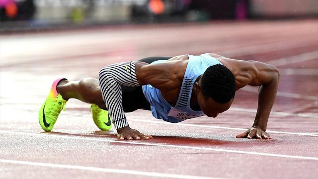 """Seul en piste, Makwala a claqué un 20""""20 sur 200m... et quelques pompes"""