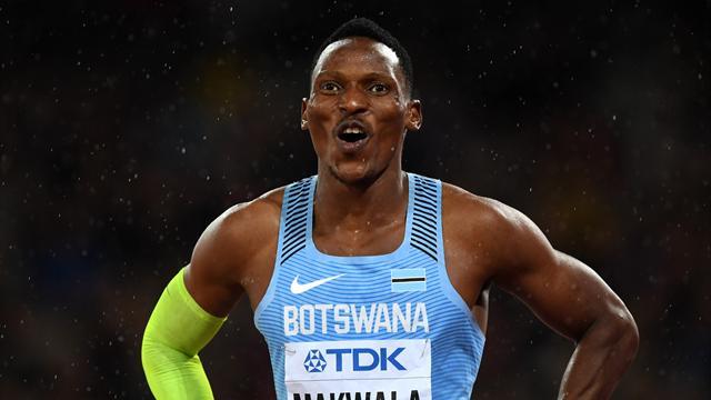 Grand favori, Makwala battu sur le 400 m