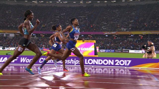 Забег, в котором Фрэнсис опередила олимпийскую чемпионку Феликс и олимпийскую чемпионку Миллер