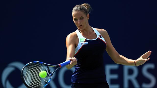 Pliskova reaches Rogers Cup quarters after Osaka retires