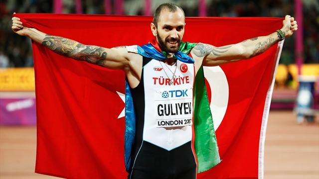 Image result for Guliyev beats Van Niekerk to win shock 200m gold