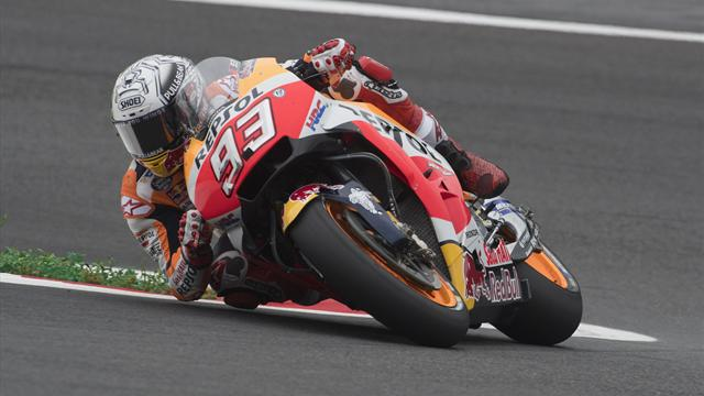 Marquez storms clear in third practice