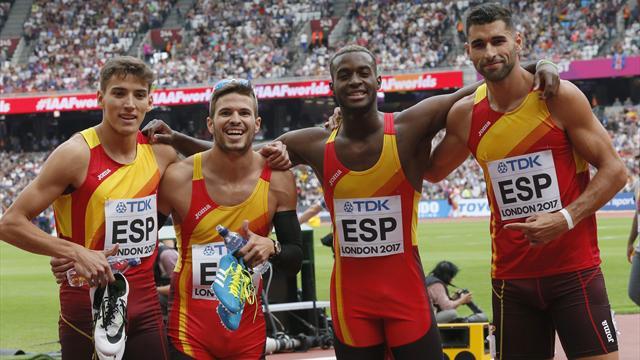 Mundial Londres 2017: El 4x400 español bate el récord nacional y finaliza quinto