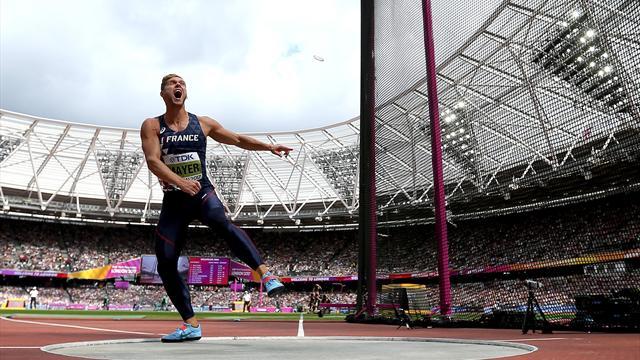 Au disque, Mayer aussi fait mieux qu'à Rio avec 47,15 m à son deuxième essai