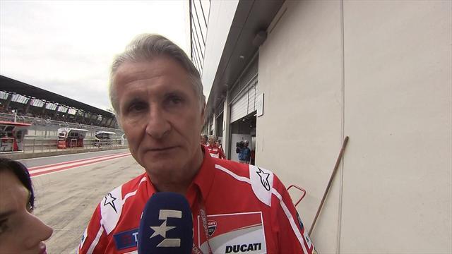 """Ducati satisfait mais fataliste : """"Ce sera difficile parce que Marquez est très rapide"""""""
