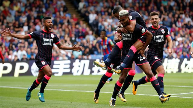 Mounie grabs a brace as fantastic Huddersfield stun Palace