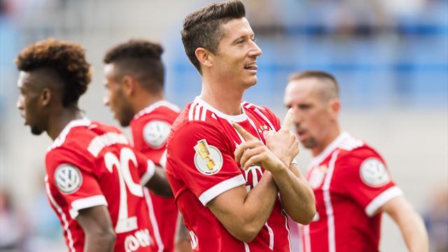 Lewandowski trifft doppelt: Lockerer Bayern-Sieg in Chemnitz