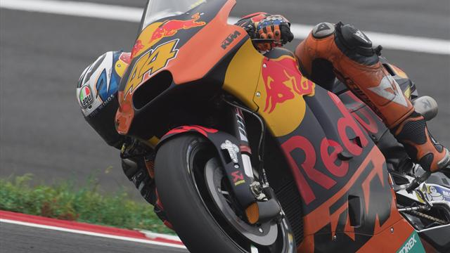 Espargaro crashed trying to follow Marquez