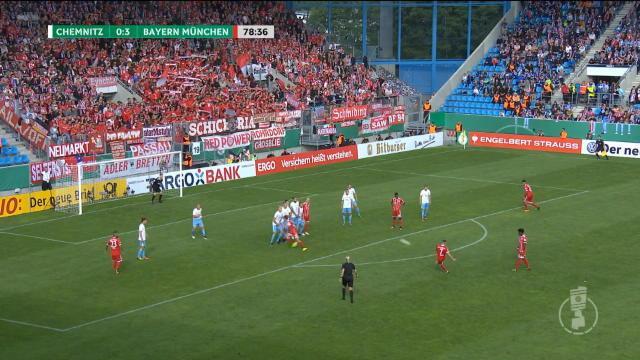 Ribéry s'offre un joli but sur coup franc pour participer au carton du Bayern