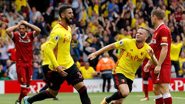 Britos strikes in stoppage time as Liverpool held by Watford in six-goal thriller