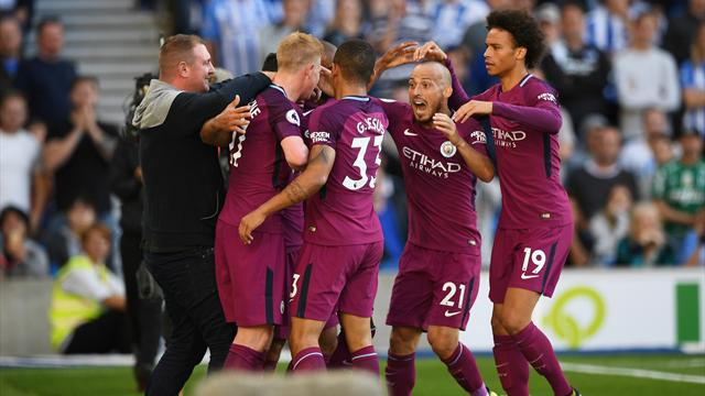 Aguero nets as City battle to opening win