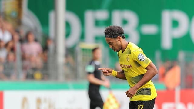 DFB-Pokal: Bundesligisten geben sich keine Blöße, Dreierpack von Aubameyang