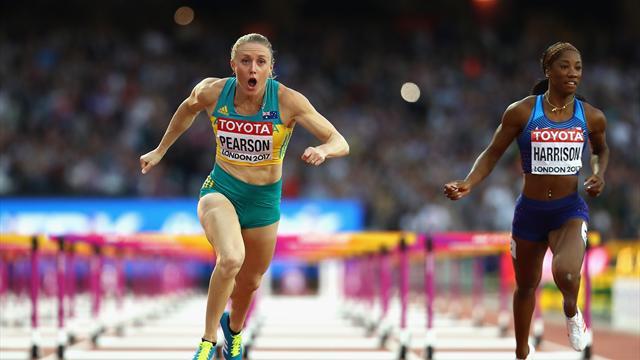 Harrison s'écroule, Pearson championne du monde du 100m haies