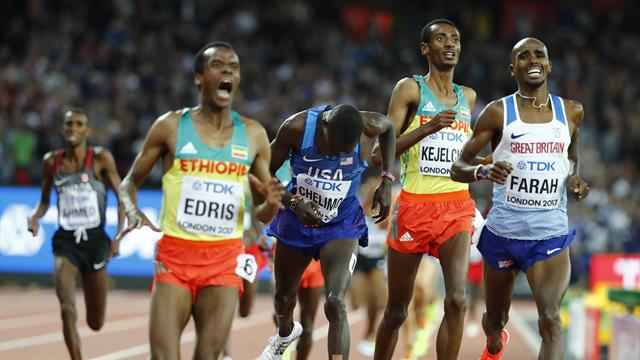 Edris crashes Farah party with 5,000m gold